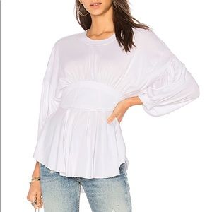 FREE PEOPLE white top S